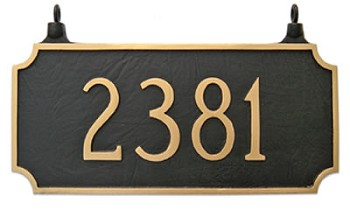 Two-Sided Princeton Address Plaque Hanging
