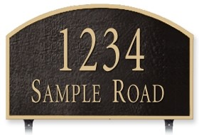 Two-Sided Prestige Arch Address Plaque Lawn 2 Line
