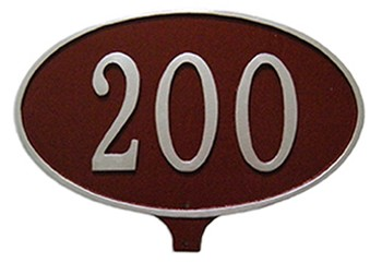 Oval Address Plaque for Yard