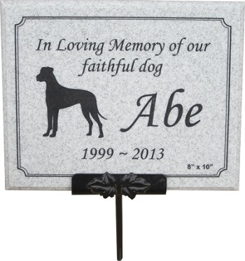 Stone Look Pet Memorial Plaque With Stake