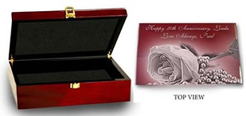 Wedding Memories Keepsake Box, Rosewood with Silver Accents