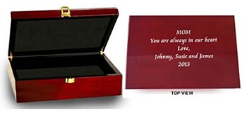 Personalized Jewelry Box: Rosewood Finish