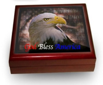 Patriotic Keepsake Box with Piano Finish