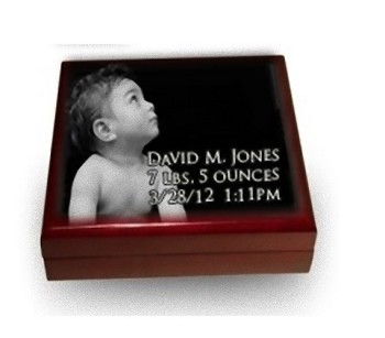 Photo Keepsake Box for Children: Piano Finish