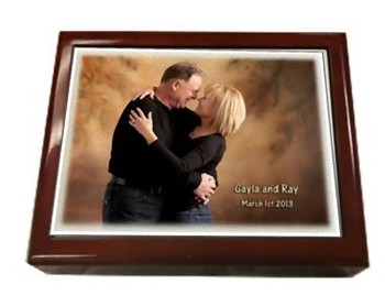 Personalized Jewelry Box with Photo