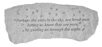 Memorial Bench - Perhaps The Stars In The Sky..