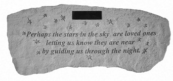 Personalized Memorial Bench - Perhaps The Stars In The Sky..