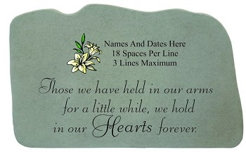 Those We Have Held Personalized Memorial Stone With Lily