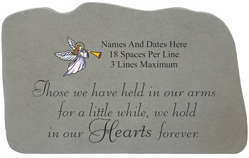 Personalized Memorial Stone With Angel - Those We Have Held
