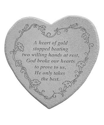 Memorial Stone - A Heart Of Gold Stopped Beating..