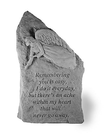 Framed Memorial Stone - Remembering You Is Easy..
