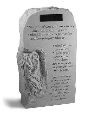 I Thought Of You Upright Personalized Angel Memorial Stone