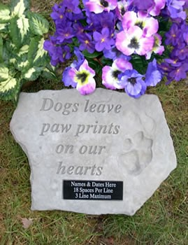Personalized Dog Memorial Stone Dogs Leave Paw Prints On