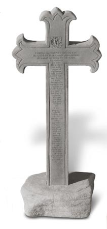 23rd Psalm Cross Obelisk w/Base