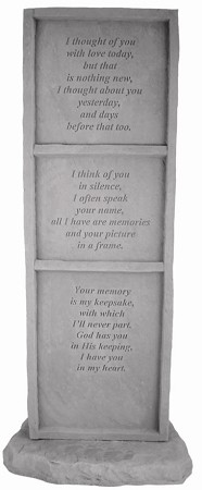 Memorial Stone, Upright - I Thought Of You..
