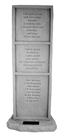 Personalized Upright Memorial Stone - I Thought Of You..