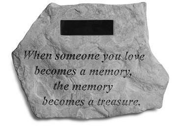 Personalized Memorial Stone - When Someone..