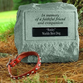 Personalized Pet Memorial Stone With Urn - Faithful Friend And Companion