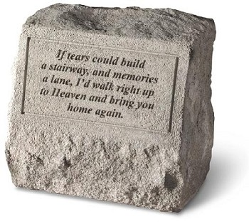 Pet Memorial Stone With Urn If Tears Could..
