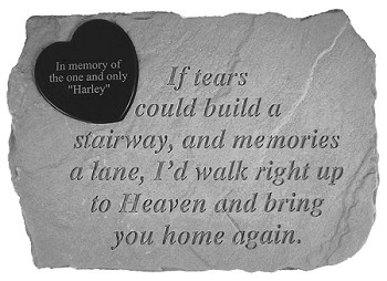 Personalized Memorial Stone - If Tears Could Build..Heart