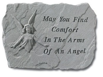 Memorial Stone with Angel - May You Find ComFort..