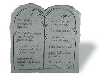 Ten Commandments in Cast Stone..