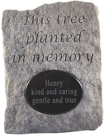 Tree Planted In Memory Stone..