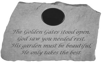 Memorial Stone, Personalized - The Golden Gates Stood Open..