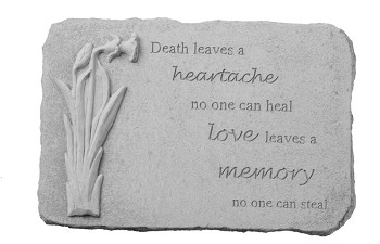 Memorial Stone - Death Leaves A Heartache