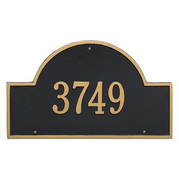 Arch 1 Line Estate Wall Address Plaque