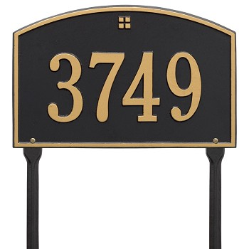Cape Charles 1 Line Estate Wall Address Plaque