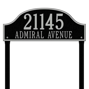 Admiral Address Plaque Estate Lawn 2 Line
