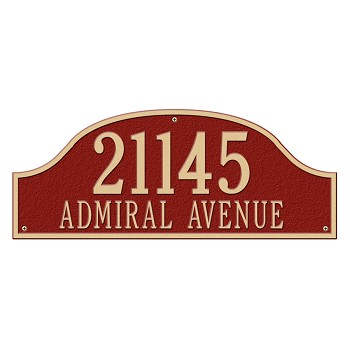 Admiral Address Plaque Estate Wall 2 Line