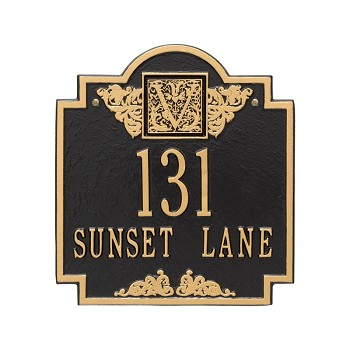 Monogram Address Plaque Wall 2 Line