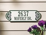 Blueberry Rectangle Address Plaque
