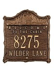 Cabin Welcome Address Plaque