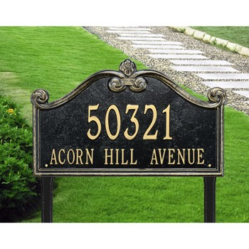 Lancaster 2 Line Lawn Address Plaque