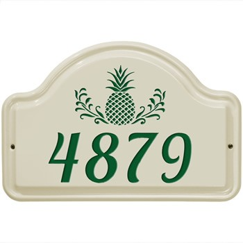 Ceramic Address Plaque Pineapple