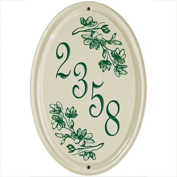 Ceramic Address Plaque Dogwood