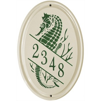 Ceramic Address Plaque Sea Horse