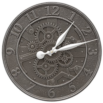 "Gear 16"" Indoor/Outdoor Wall Clock"