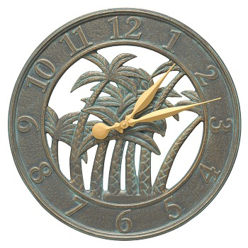 Palm Indoor/Outdoor Wall Clock