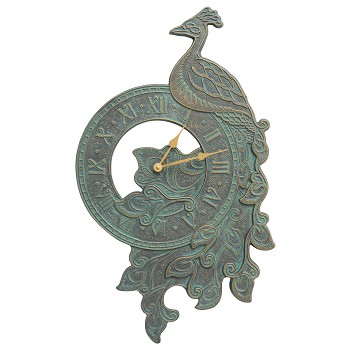Peacock Indoor/Outdoor Wall Clock