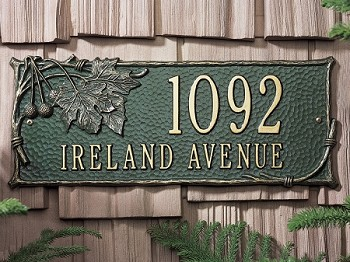 Sycamore Address Plaque