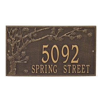 Spring Blossom 2 Line Wall Address Plaque