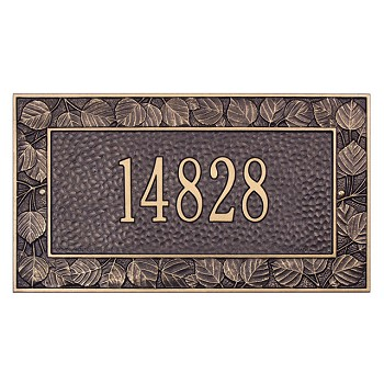 Aspen Address Plaque Wall 1 Line