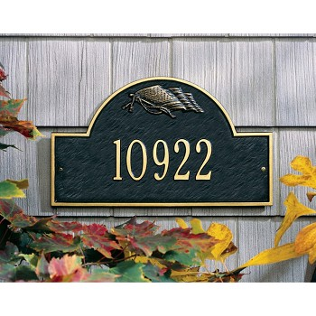 Flag Arch Address Plaque Wall 1 Line