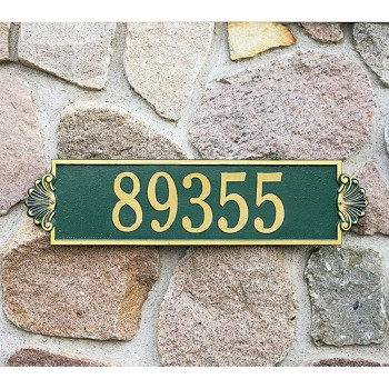 Shell Address Plaque Estate Wall 1 Line