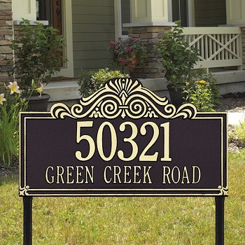 Villa Nova 2 Line Estate Lawn Address Plaque