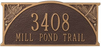 Dragonfly Address Plaque
